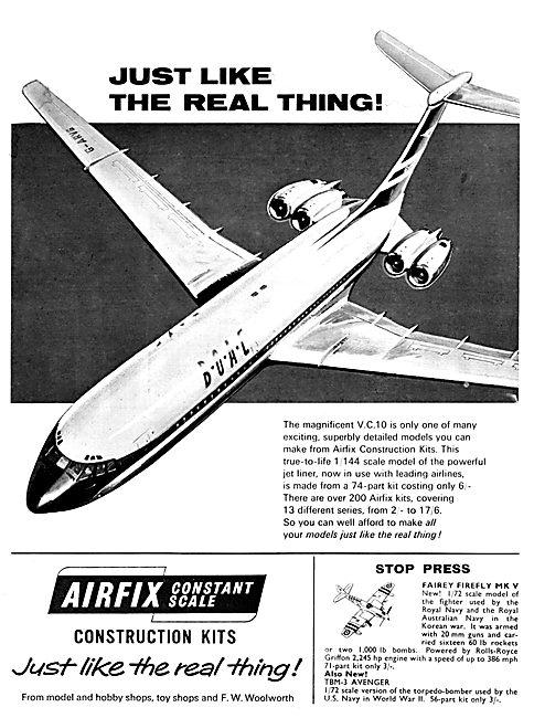 Airfix Model Aircraft Kits V.C.10 1966