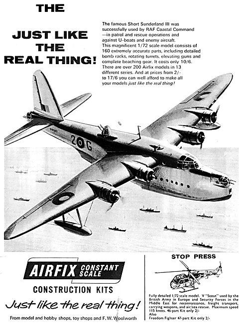 Airfix Model Aircraft Kits Short Sunderland III