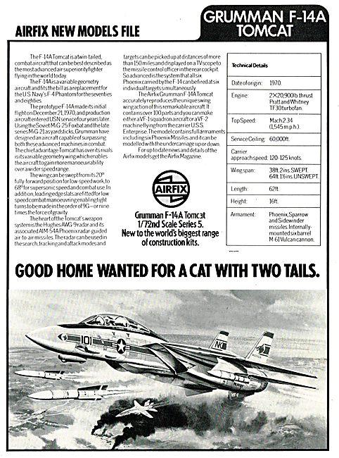 Airfix 1/72 Scale Grumman F-14A Tomcat