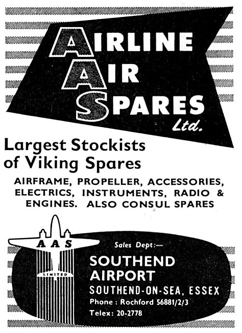 Airline Air Spares. Southend - Aircraft Sales & Spares
