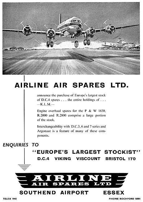 Airline Air Spares Southend  1960