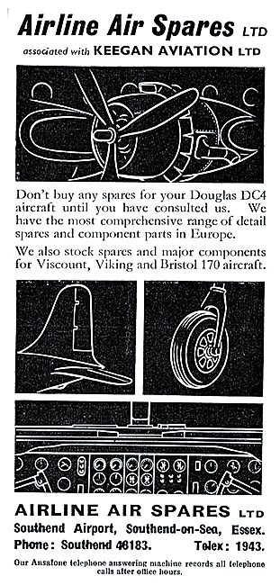 Airline Air Spares - Keegan Aviation. DC4 Spares