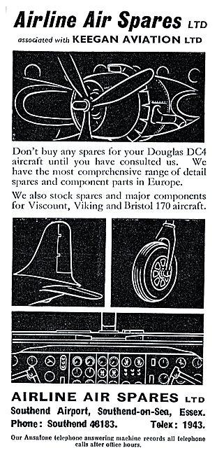 Airline Air Spares - Keegan Aviation. DC4 Spares