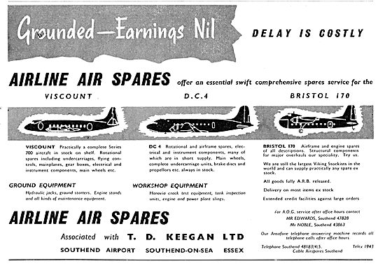 Airline Air Spares - Keegan Aviation. Vickers Viscount Spares
