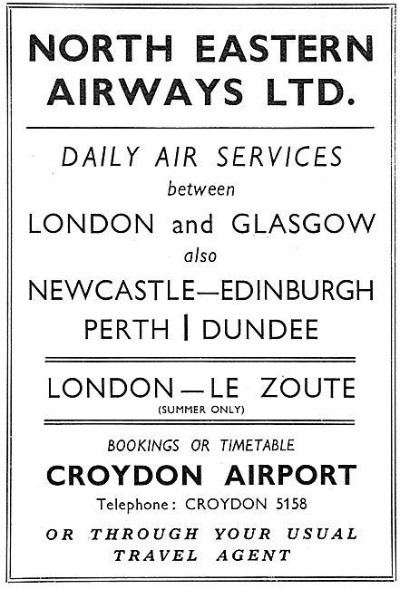 North Eastern Airways - Croydon.