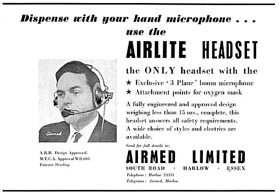 Airmed Airlite Aircrew Headsets