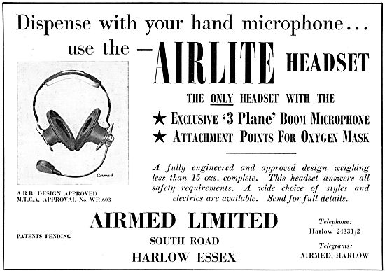 Airmed Airlite Headsets 1958