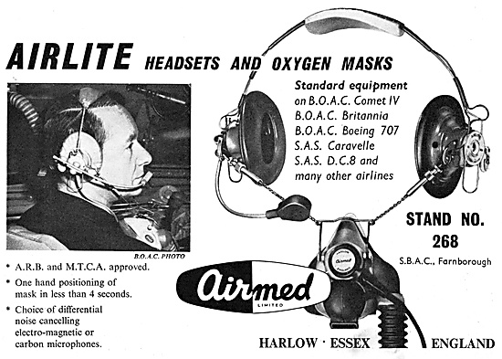 Airmed Airlite Aircrew Headsets & Oxygen Masks