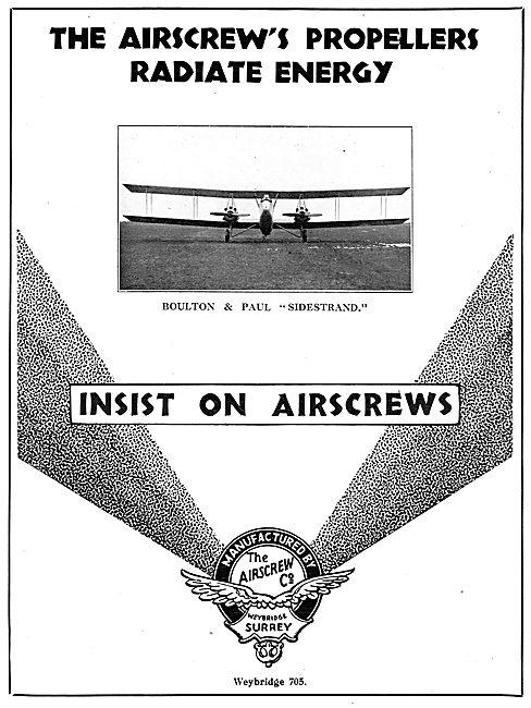 Airscrew's Propellers Radiate Energy.