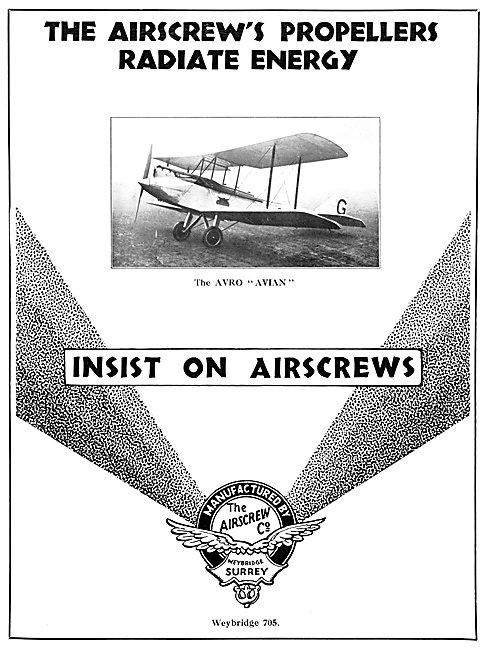The Airscrew Company Weybridge - Airscrew Propellers 1930