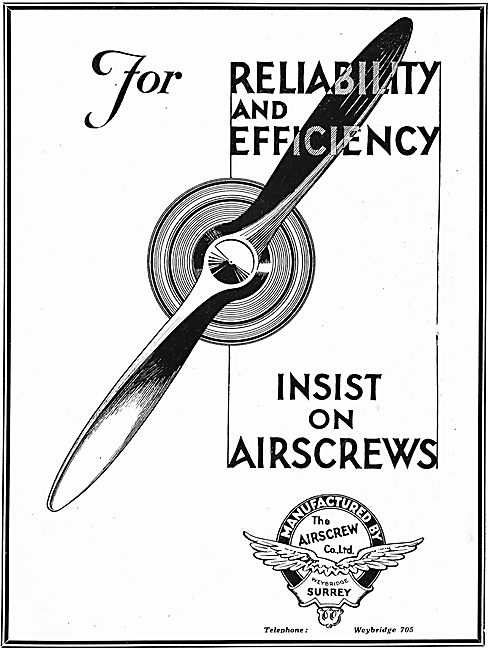 Insist On Airscrew Co Aircraft Propellers