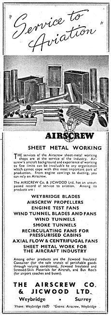 Airscrew Co & Jicwood - Aircraft Sheet Metal Work