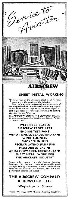 Airscrew - Jicwood Sheet Metal Shops - Engine Test Fans