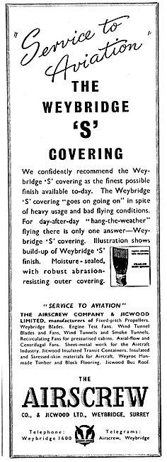 Airscrew Jicwood Weybridge 'S' Covering