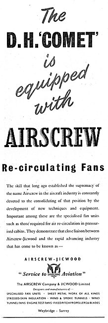 The Airscrew Company Jicwood DH Comet Re-Circulating Fans