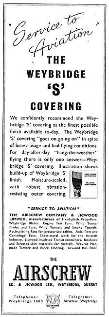 Airscrew Weybridge 'S' Covering
