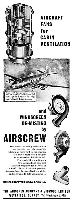 Airscrew Aircraft Fans For Cabin Ventilation