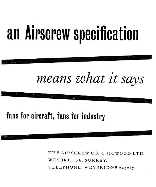 Airscrew Fans For Cabin Ventilation, De-Misting & Radio Cooling