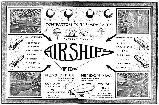 Airships Ltd 1916 Advert