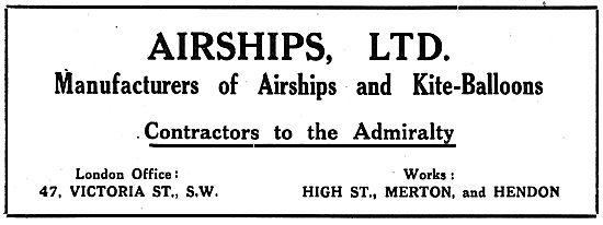 Airships Ltd. High St Merton - Manufacturers Of Airships