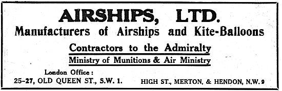 Airships Ltd - Manufacturers Of Airships & Kite-Balloons