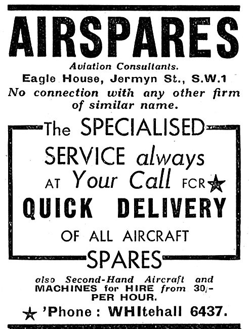 Airspares - Aviation Consultants & Aircraft Spares For All Typeds