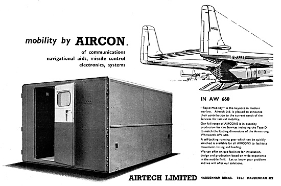 Airtech Mobile Communications & Monitoring Stations 1960