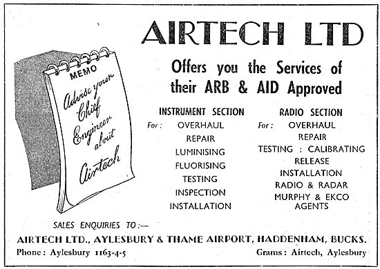 Airtech Ltd. Aeronautical Engineers. Service & Modifications