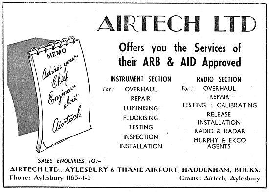 Airtech Ltd. Aeronautical Engineers.  Aylesbury Thame Airport