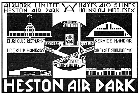 Airwork Heston Air Park 1929