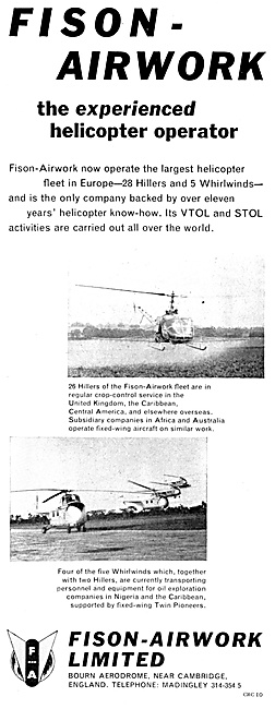 Fison Airwork Helicopter Operations 1959