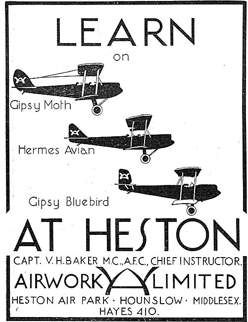 Learn To Fly At The Airwork Flying School Heston.