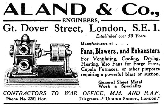 Aland & Co. Engineers. - Fans, Blowers & Exhausters