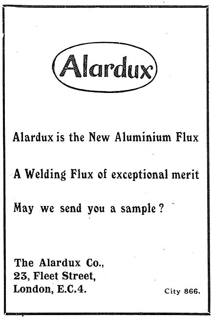 Alardux Welding Flux For Aircraft Work