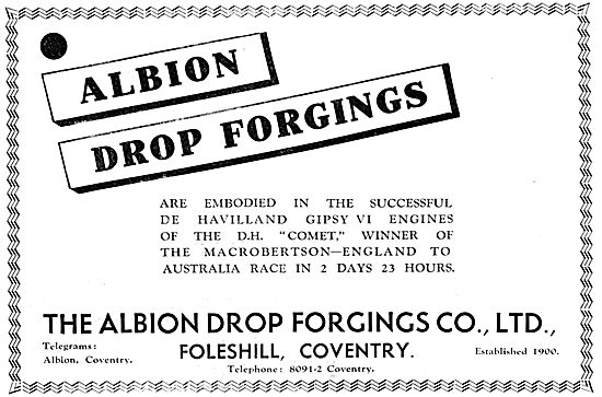 Albion Drop Forgings - Foleshill Coventry