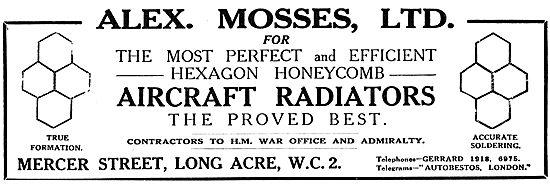 Alex Mosses Ltd - Aircraft Radiators, Sheet Metal Work.