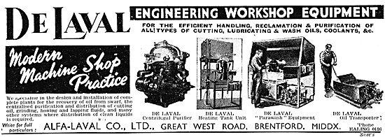 Alfa-Laval - De Laval Engineering Workshop Equipment 1943