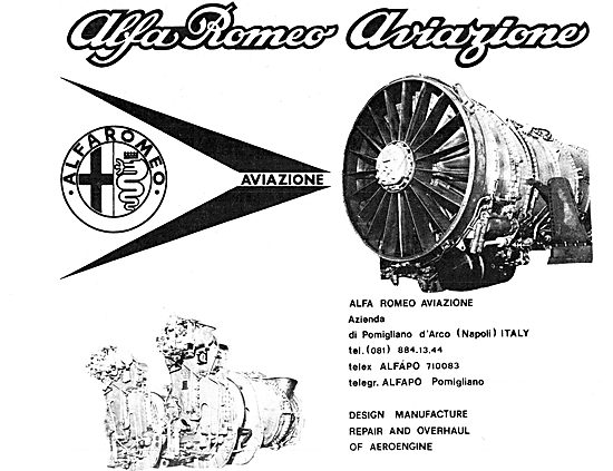 Alfa Romeo Aviazione Aircraft Engines 1979