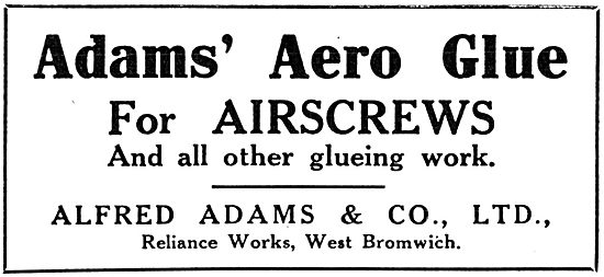 Alfred Adams & Co - Adams' Aero Glue