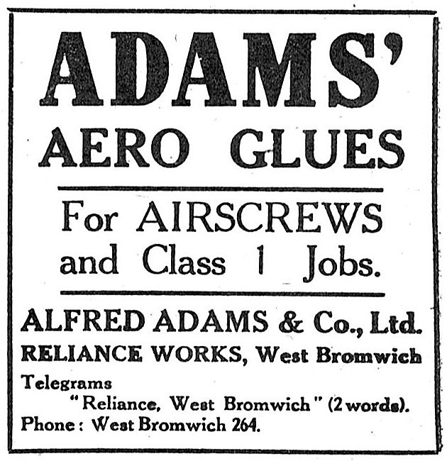 Alfred Adams & Co - Adams' Aero Glues