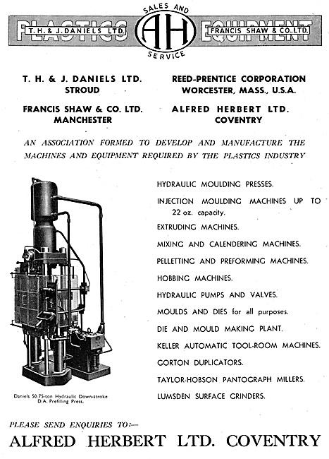 Alfred Herbert Machine Tools - Daniels 75 Ton Prefiling Press