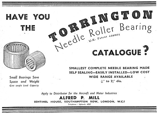 Alfred P.Mill : Torrington Bearings