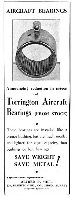 Alfred P.Mill : Bearing Suppliers To The Aircraft Industry