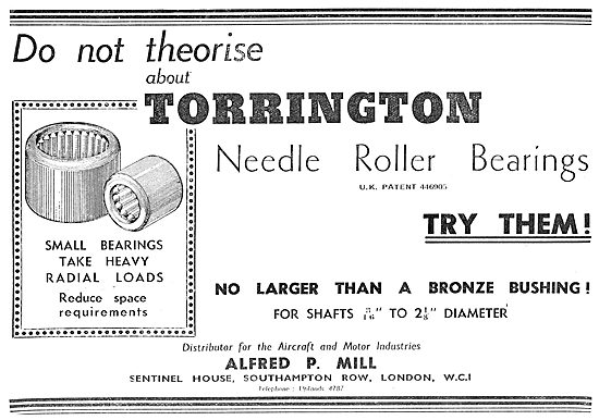 Alfred P.Mill : Torrington Bearing Suppliers