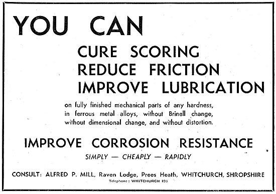 Alfred P.Mill : Bearing & Lubricants For The Aircraft Industry