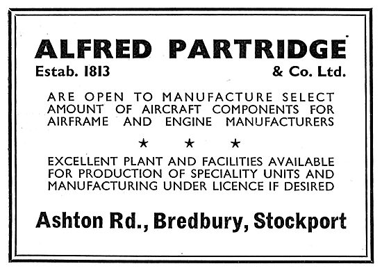 Alfred Partridge - Airframe & Engine Component Manufacturers