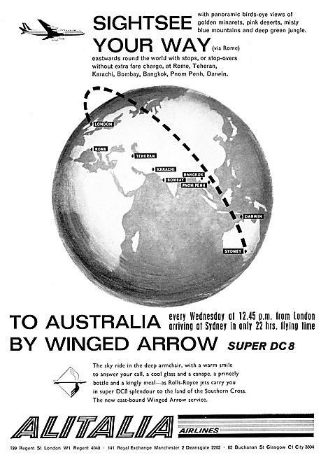 Alitalia 1961 Winged Arrow DC 8