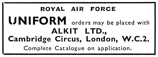 Alkit RAF UNiforms 1931
