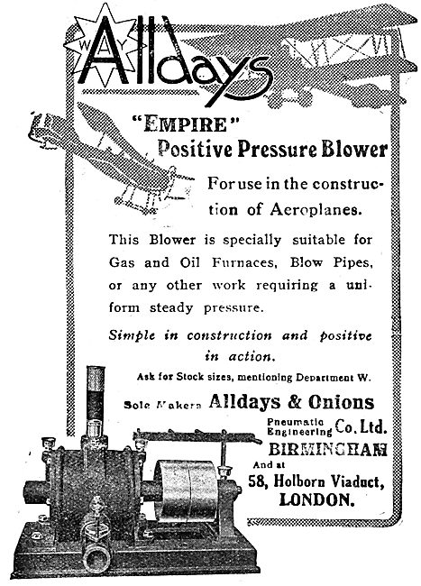 Alldays & Onions Ltd. Empire Positive Pressure Blower