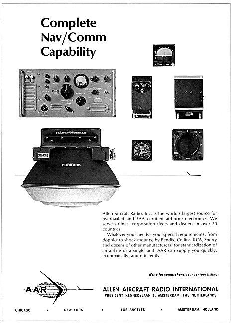 Allen Aircraft Radio - A llen Avionics 1967